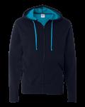 Two-Color Deluxe Fleece Zip Hood