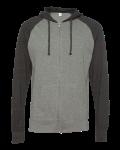 Lightweight Jersey Raglan Hooded Full-Zip