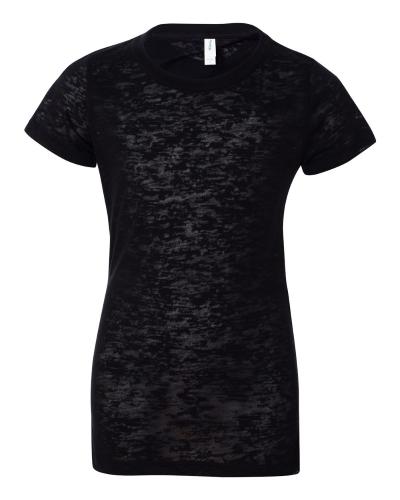 Juniors' Short Sleeve Burnout T-Shirt
