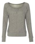 Juniors' Wide-neck Sweaterfleece Crew
